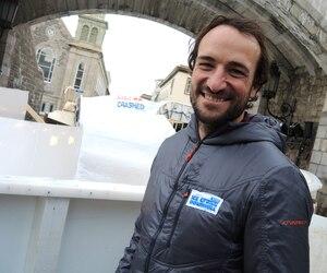 L'expert Claudio Caluori connaît tout du Red Bull Crashed Ice et est présent à chacune des courses.
