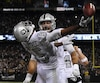 Michael Crabtree effectue l'attrapée qui donnera la victoire aux Raiders.