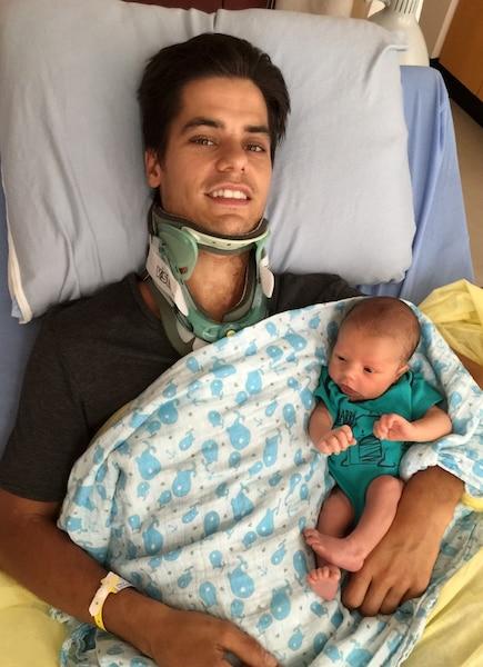 Alexandre Thibault a pu  assister à la naissance de son fils Logan, le 29 juillet, seulement 14 jours après l'accident qui l'a rendu  paraplégique.