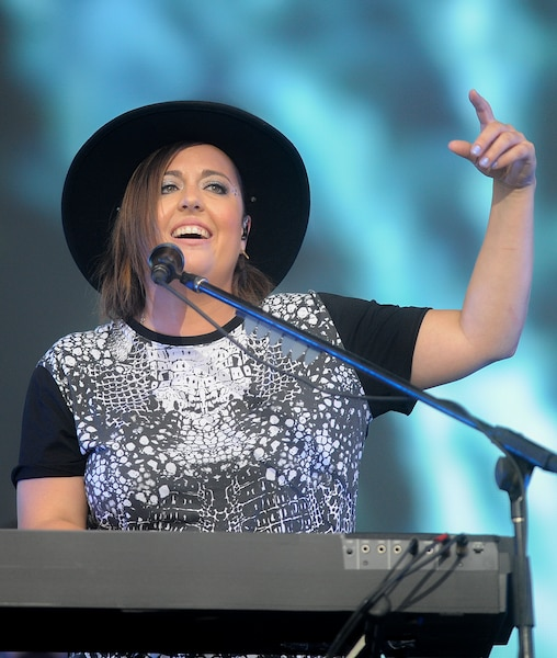 Ariane Moffatt a assuré la première partie du spectacle du chanteur français sur les Plaines.