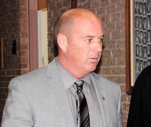 Le conducteur du train qui a explosé à Lac-Mégantic, Tom Harding. L'avocat de ce dernier, Thomas Walsh, a demandé l'avortement du procès de trois mois.
