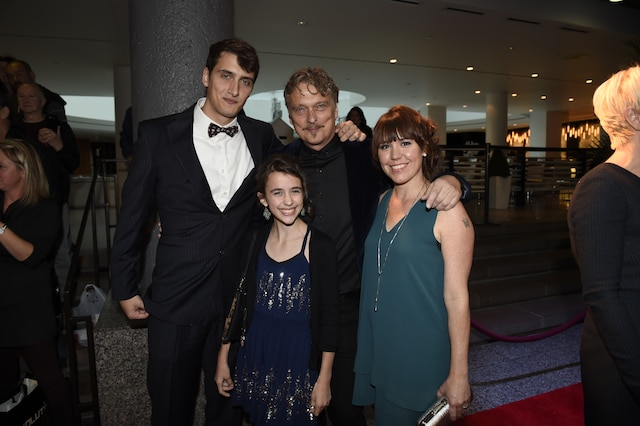Normand D'Amour et sa famille.