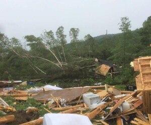 Le temps violent a fait des dégâts près de Hébertville.