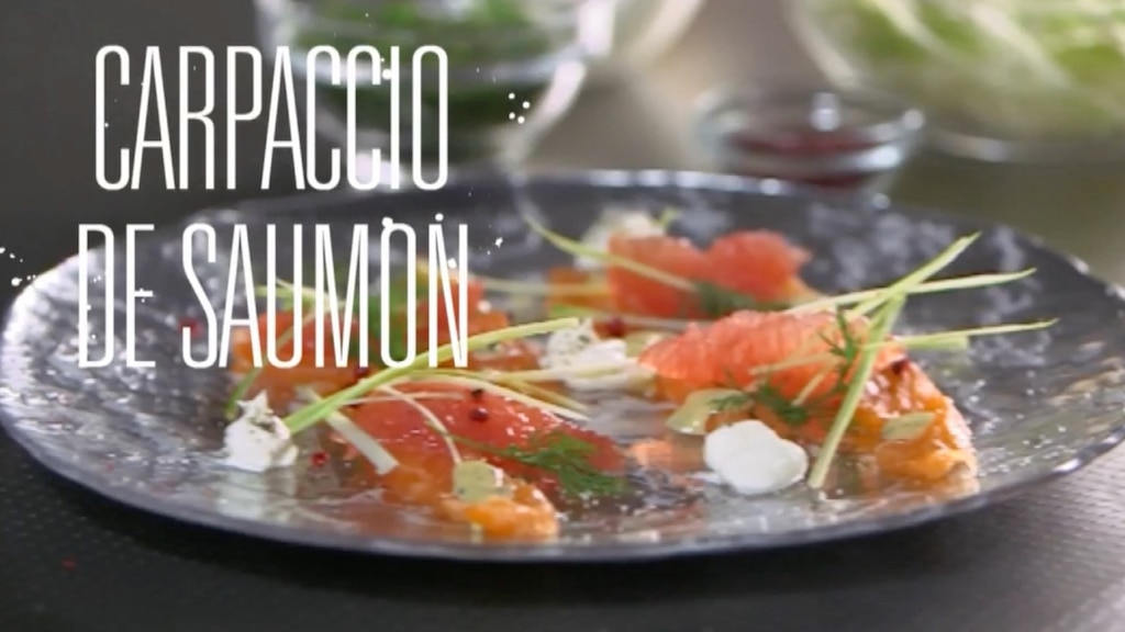 Carpaccio de saumon et fruits de la passion