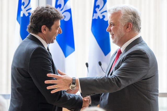 Patrick Bruel et Philippe Couillard