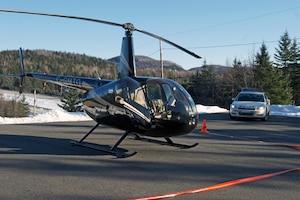 L'hélicoptère qui a servi à l'évasion des deux détenus