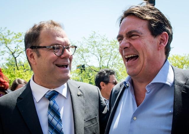 Mario Beaulieu et Pierre-Karl Péladeau.