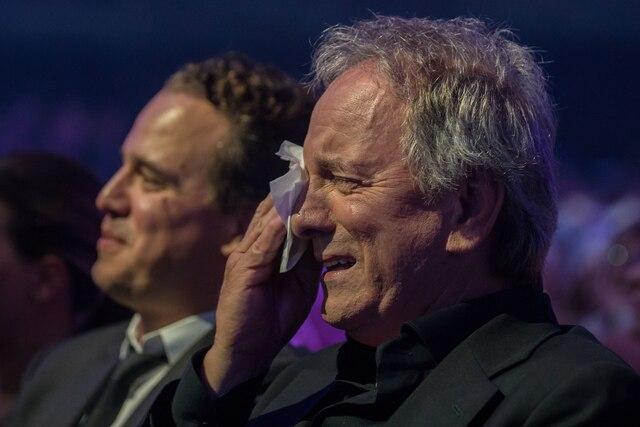 Michel Côté a versé quelques larmes durant le spectacle.