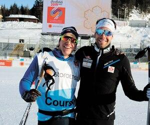 Devon Kershaw et Alex Harvey, sur cette photo prise durant les Championnats mondiaux à Seefeld, avaient marqué l'histoire canadienne du ski de fond lors de leur victoire au sprint par équipe à Oslo en 2011