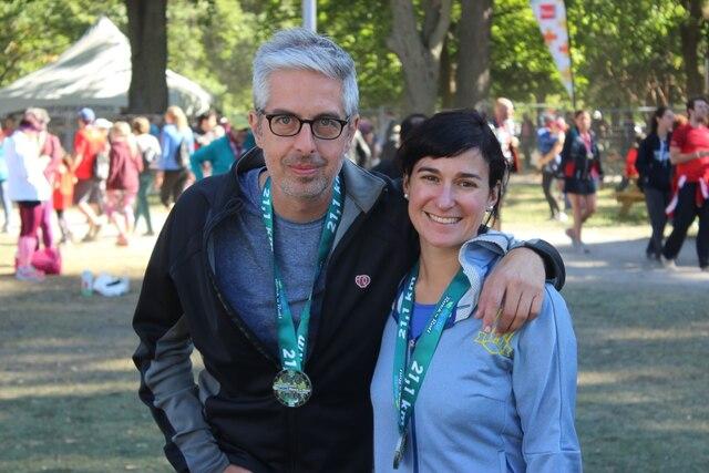 Yann Fortier et sa conjointe Marie-Eve Gingras se sont rencontrés grâce à leur passion commune pour la course à pied.