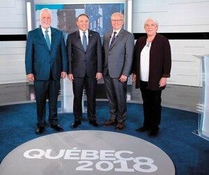 CANADA-POLITICS-QUEBEC-ELECTIONS-DEBATE