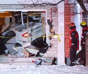 Un couple de l'ouest de l'île de Montréal venait à peine de se coucher à l'étage quand Melinda Kazandjian a foncé à plus de 135km/h sur leur maison, causant pour 350000$ de dommages et traumatisant les parents et leurs trois enfants.