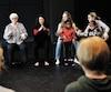 La chorégraphe new-yorkaise Tamar Rogoff (au centre de la photo) était de passage à la Maison pour la danse de Québec, samedi dernier, pour diriger une séance.