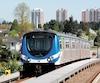 Le projet de métro aérien, du consortium PwC-Arup-Solutrans-Loctrans, comporte quatre lignes couvrant une distance de 61km avec 57 stations. Sur la photo, le Skytrain à Vancouver.