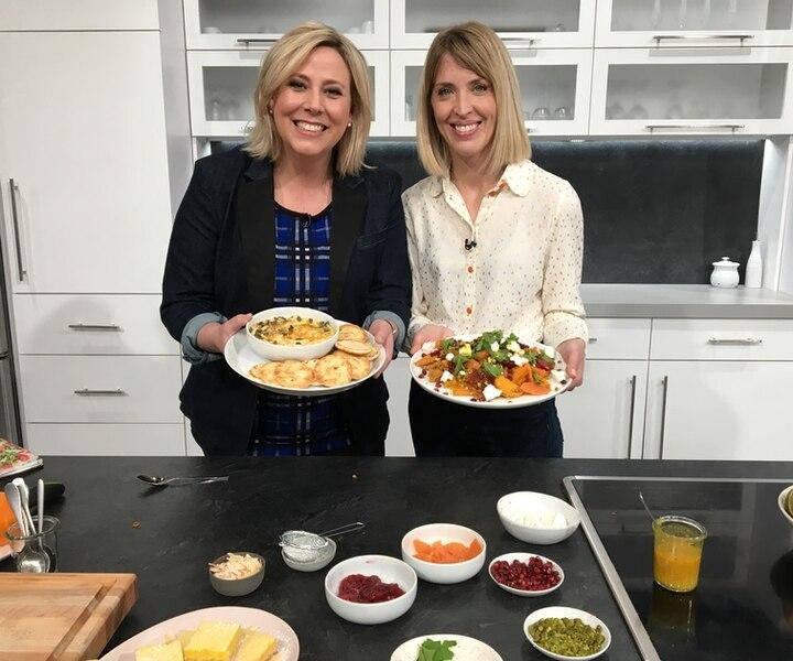 Salade de patate douce rôtie et de lentilles à l'orange