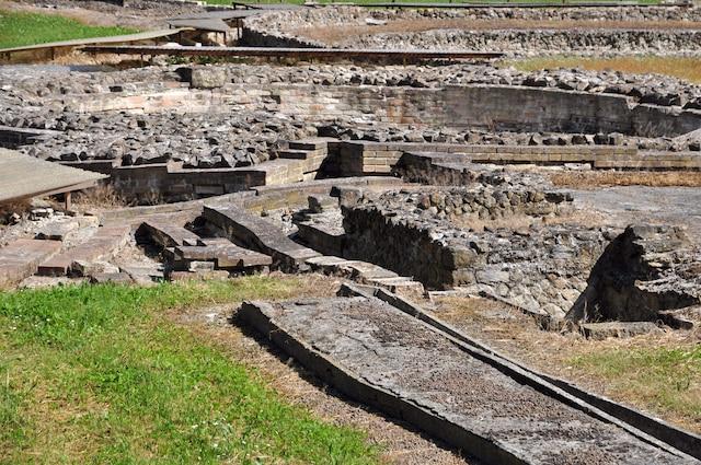 Les ruines romaines de Montegrotto, ville adjacente à Abano Terme.