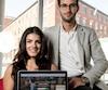 Christine Teixeira et Laurent Messier, 26 ans, ont créé la Trousse de l'entrepreneur.