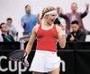 Eugenie Bouchard a exprimé haut et fort sa satisfaction après sa victoire aux dépens de Kateryna Bodarenko.