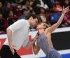 Kirsten Moore-Towers et Michael Marinaro aux Championnats du monde de patinage artistique, jeudi le 23 mars 2018 à Milan en Italie.