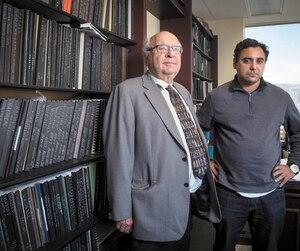Le président de Julia Wine, Alain Lord Mounir (à droite), a embauché Me Julius Grey pour défendre sa cause devant les tribunaux.