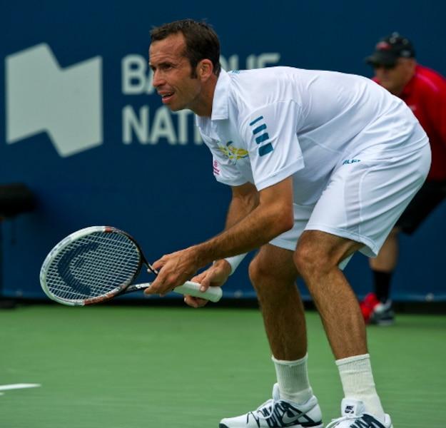 Match entre Vasek POSPISIL (CAN) et Radek STEPANEK (CZE) lors du tournoi de tennis de la Coupe Rogers au Stade Uniprix à Montréal le mercredi 7 août 2013.