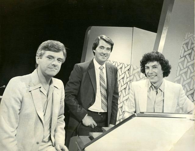 Pierre Lalonde, Georges Whelan et Daniel Hétuémission: L'Artishow1982PHOTO MICHEL MILLER / LES ARCHIVES / LE JOURNAL DE MONTREAL