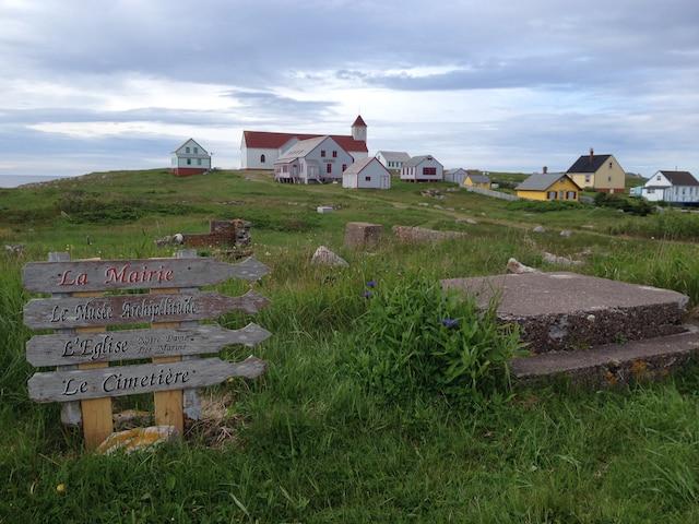 Village abandonné de l'île aux  marins, au large de Saint-Pierre.