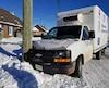 Le camion de transport pour les denrées de Moisson Kamouraska a percuté un poteau électrique la fin de semaine dernière à La Pocatière, dans le Bas-Saint-Laurent.