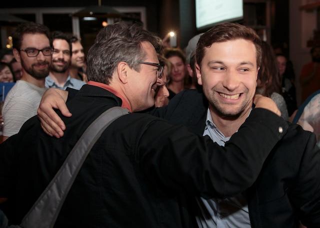Gabriel Nadeau-Dubois a remporté haut la main l'élection partielle dans la circonscription montréalaise de Gouin.