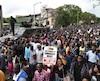 Manifestation pour réclamer le départ du président Mugabe, le 18 novembre à Harare.