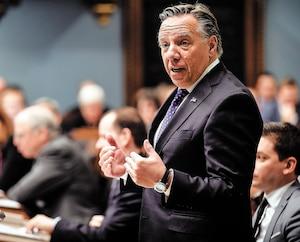 Le premier ministre François Legault lors de la période de questions, mercredi.