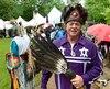 Le grand chef Konrad Sioui au Pow Wow de Wendake, samedi. Pour lui, la fête devait continuer malgré le décès de l'artiste Gilles Sioui, son cousin. «On doit continuer pour lui», a-t-il ajouté.