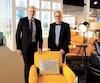 Mickael et Gabriel Setlakwe, lors de l'ouverture officielle de leur nouveau magasin de Saint-Germain-de-Grantham, jeudi dernier.