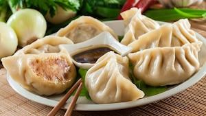 Dumplings poulet et crevettes