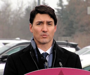 Justin Trudeau a nié à Toronto jeudi les allégations d'ingérence politique.