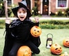 Young kid dressed up for Halloween festival
