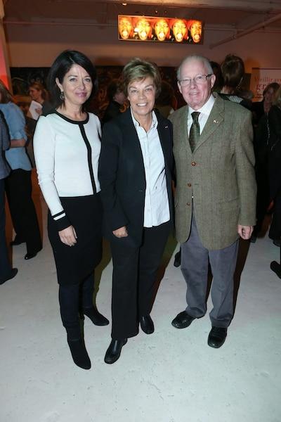 Lancement du Livre de Denise Bombardier, Vieillir avec grâce, le 28 décembre 2012. Sur la photo, Line Beauchamp, Lousie Beaudoin et Bernard Landry.