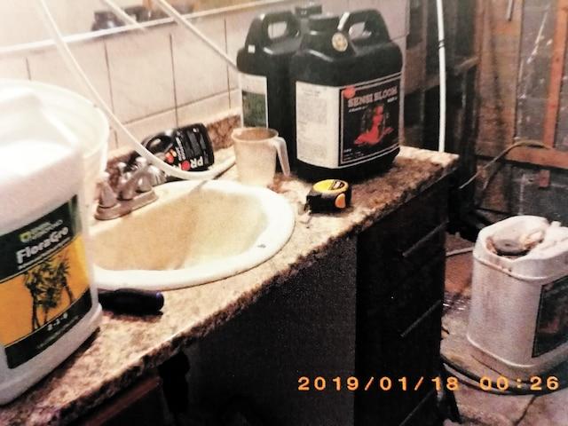 Voilà de quoi avait l'air la salle de bain dans cette résidence où toutes les pièces étaient vouées à la plantation.