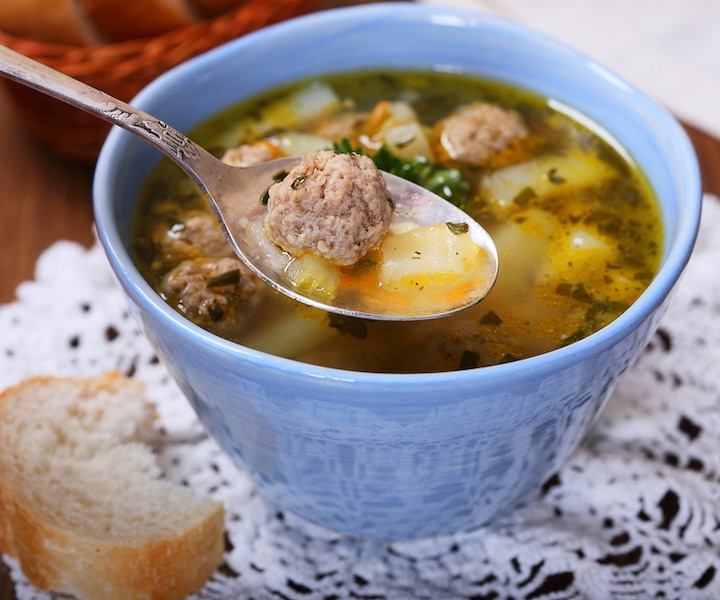 Soupe aux boulettes de viande