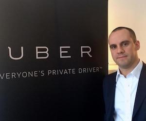 Le directeur général d'Uber Québec Jean-Nicolas Guillemette.
