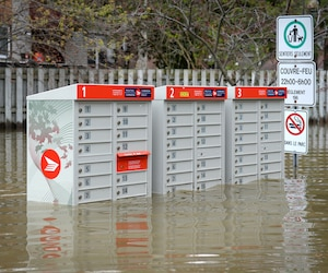 Inondations dans le secteur de l'�le Bizard.