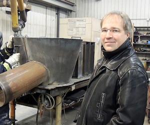 Le directeur exécutif des Industries Blais, Jean-François Blais, dans son usine de Rouyn-Noranda. Le défi des ressources humaines est quotidien dans l'industrie minière.