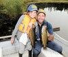 Lors de notre séjour en août dernier à la pourvoirie Lac des Baies, la belle petite Alice Hovington a battu son record personnel après un combat mémorable avec cette belle truite de 1,3kilo.