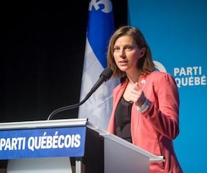 La présidente du Parti québécois, Gabrielle Lemieux, ici photographiée le 17 novembre dernier lors du Conseil national, à Montréal, a dévoilé le plan d'action 2019 hier afin de définir les priorités du parti avant l'élection de son prochain chef.