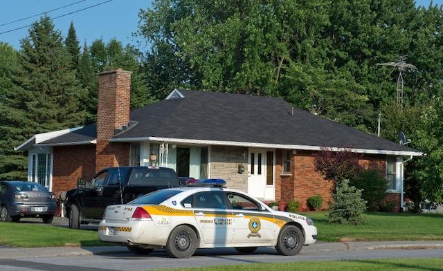 La maison de la mère de Tom Harding, où il a appelé les policiers pour sa protection.