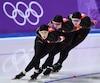 Les canadiennes se sont inclinées contre les États-Unis lors de l'épreuve de la poursuite féminine par équipes en patinage de vitesse longue piste.