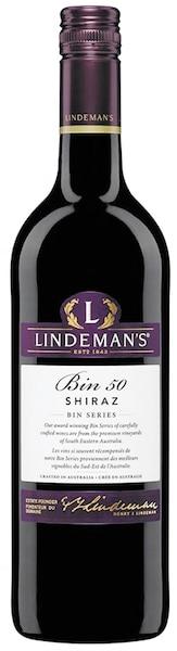 Shiraz Lindeman Bin 50 Australie, 14,0% 112 calories 8g de sucre résiduel par litre