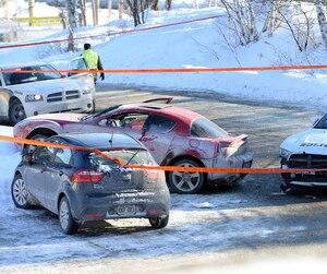 Le 22 janvier 2014, Éric Deslauriers a ouvert le feu vers David H. Lacour, qui conduisait une voiture rapportée volée.