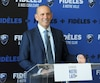 Le commissaire de la MLS Don Garber était de passage à Montréal, mardi.