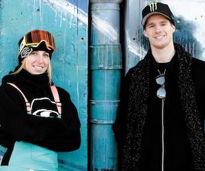 Les projecteurs seront tournés vers Laurie Blouin et Maxence Parrot, samedi, lors de la finale du big air à l'Îlot Fleurie.
